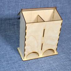 Чайный короб одинарный с откидывающейся крышкой без оформления