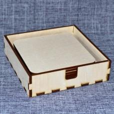 Набор квадратных подставок под горячее с горизонтальной коробочкой