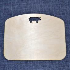 Широкая разделочная доска со свинкой